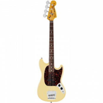 Mustang® Bass, Rosewood Fingerboard Vintage White 4-Ply Tortoise
